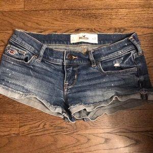 Hollister distressed short shorts